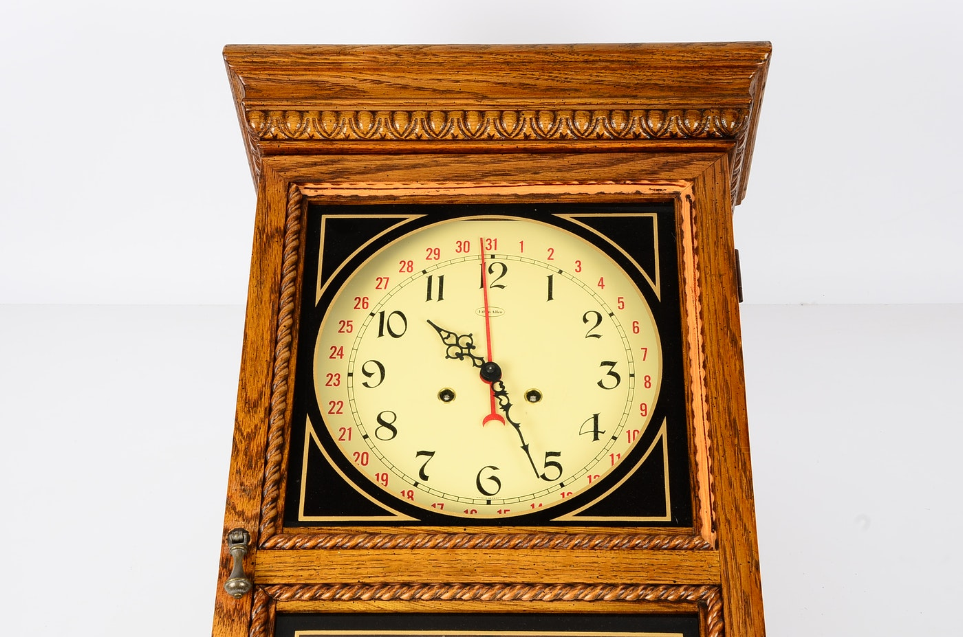 Ethan Allen Regulator Style Wood Wall Clock Ebth