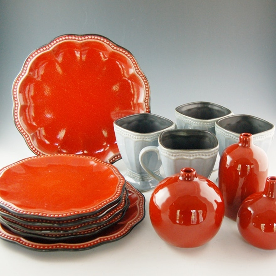 Roscher \'Hobnail\' Collection Dinnerware : EBTH