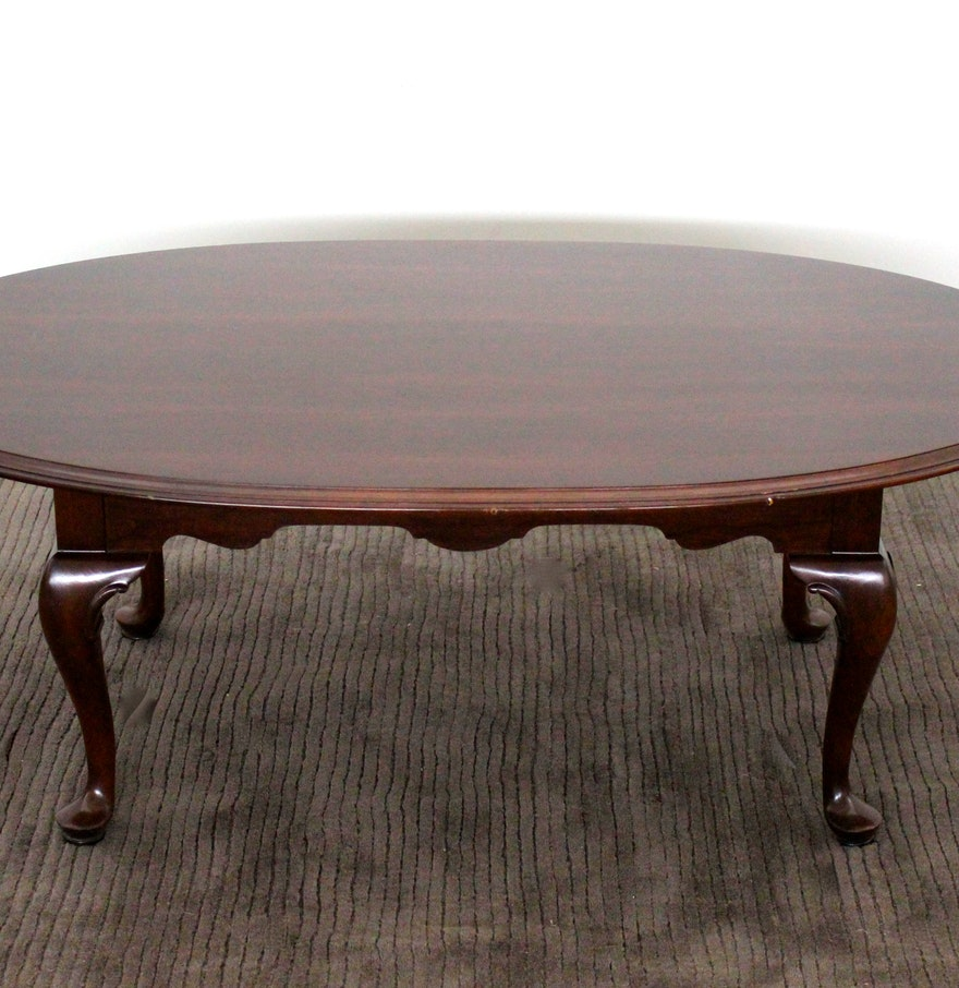 Ethan Allen Trevor Coffee Table: Ethan Allen Mahogany Coffee Table : EBTH