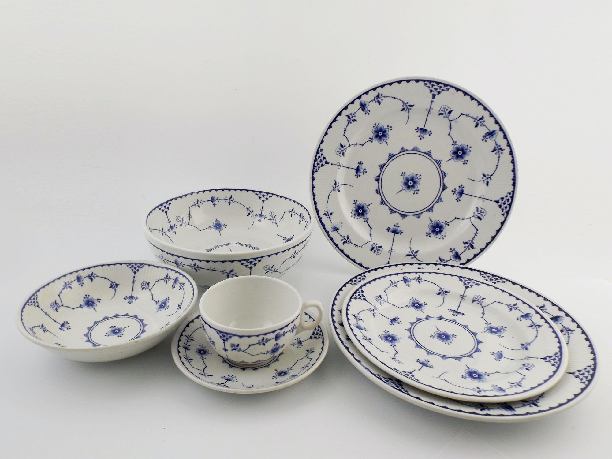 Set of Furnivals u0027Denmarku0027 China Dinnerware ... & Set of Furnivals u0027Denmarku0027 China Dinnerware : EBTH