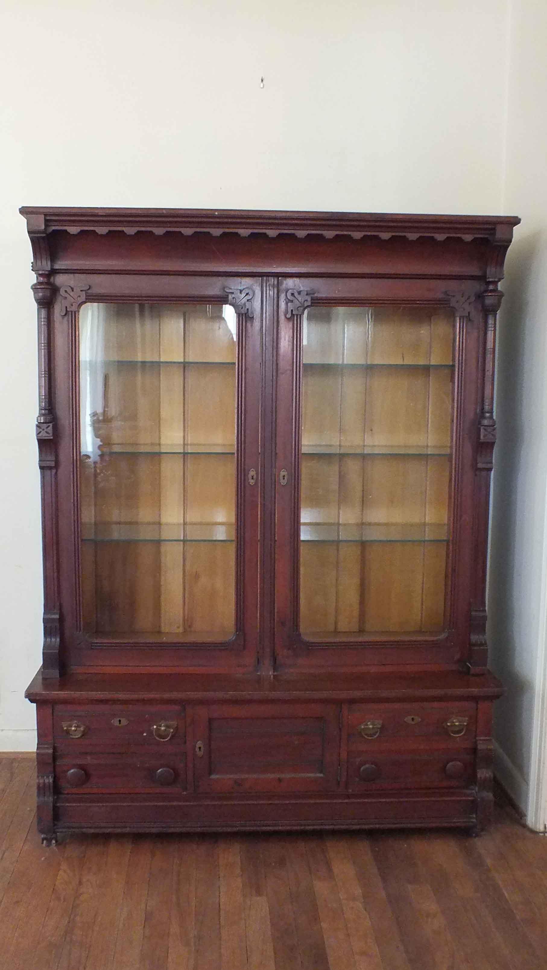 Antique Victorian Eastlake Curio Cabinet : EBTH