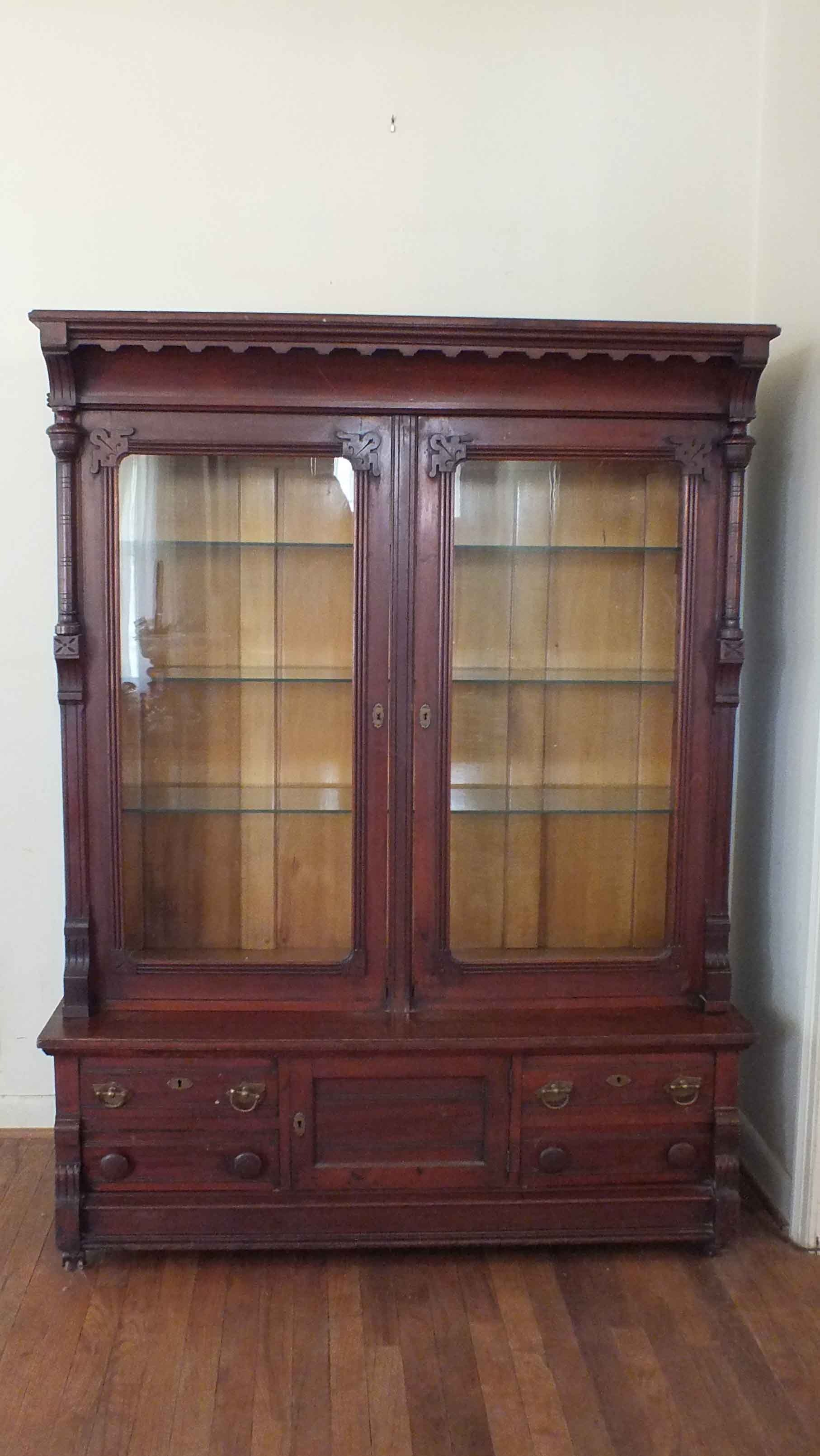 Antique Victorian Eastlake Curio Cabinet ...