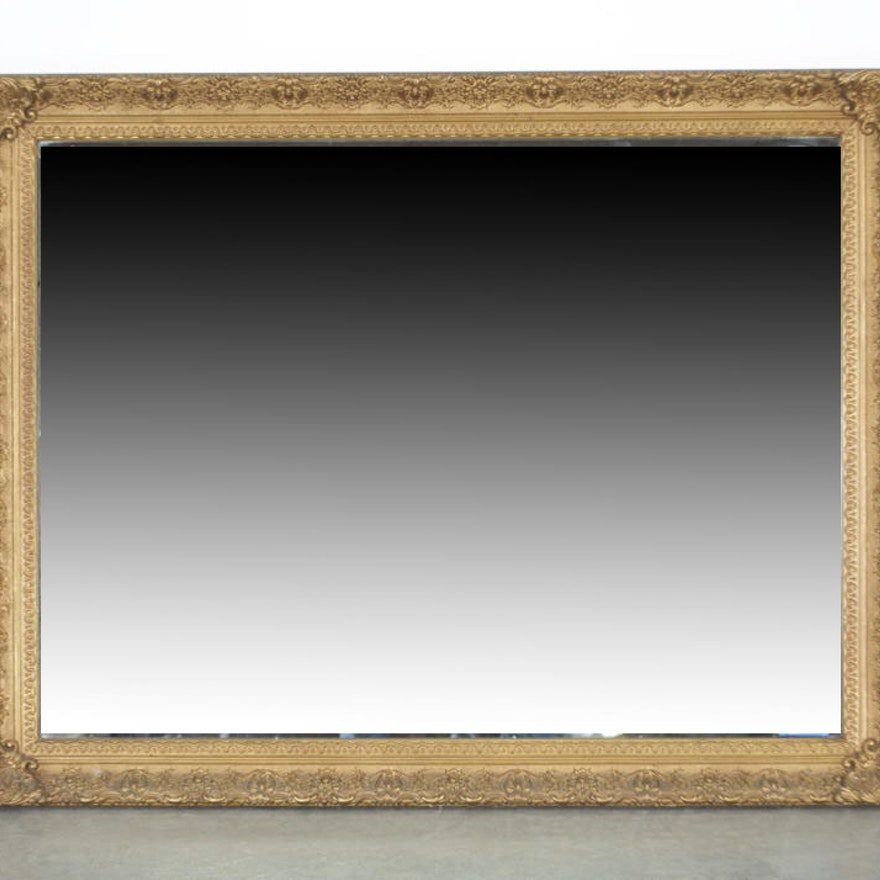 Favorite Large Fashion Plate Mirror with Gilt Frame : EBTH HJ07