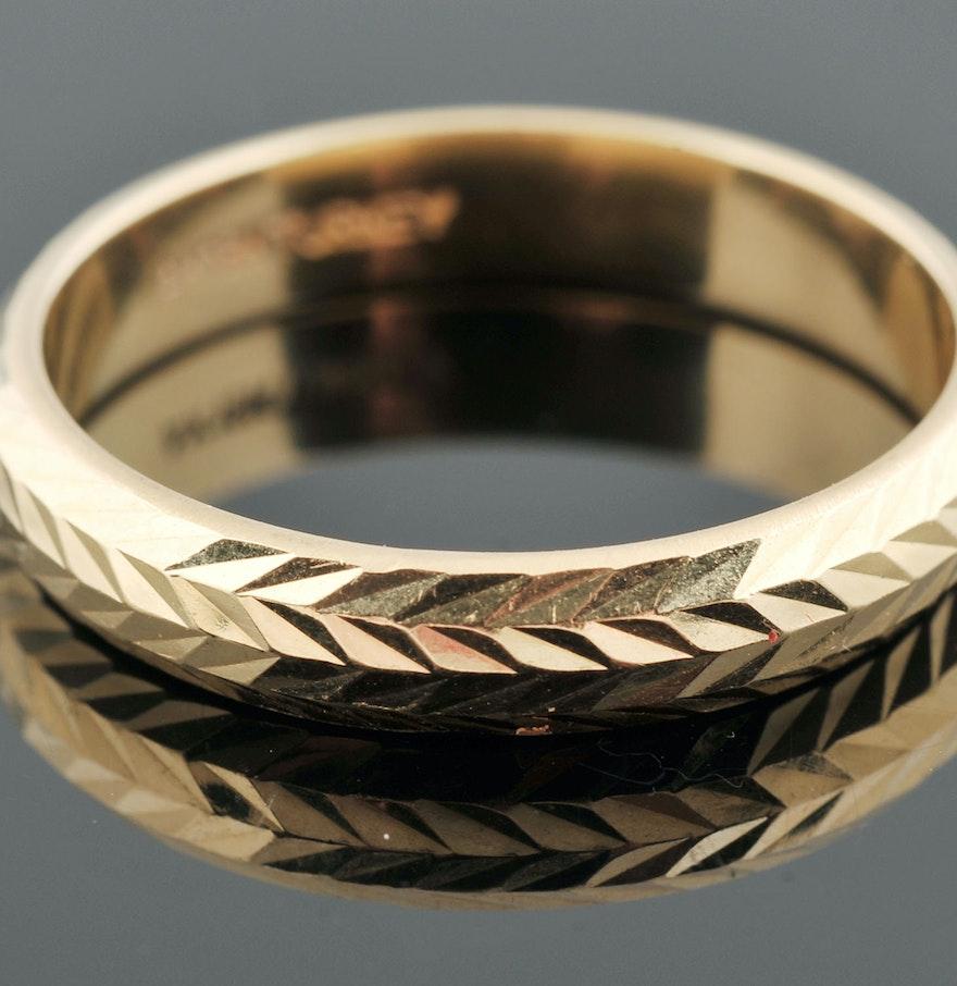 atasay kuyumculuk turkish 18 k yellow gold band turkish wedding ring Atasay Kuyumculuk Turkish 18 K Yellow Gold Band