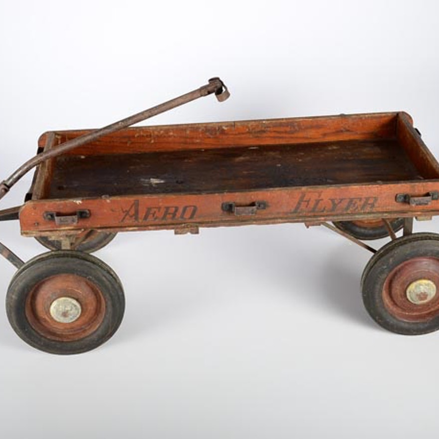Vintage Aero Flyer Wooden Wagon