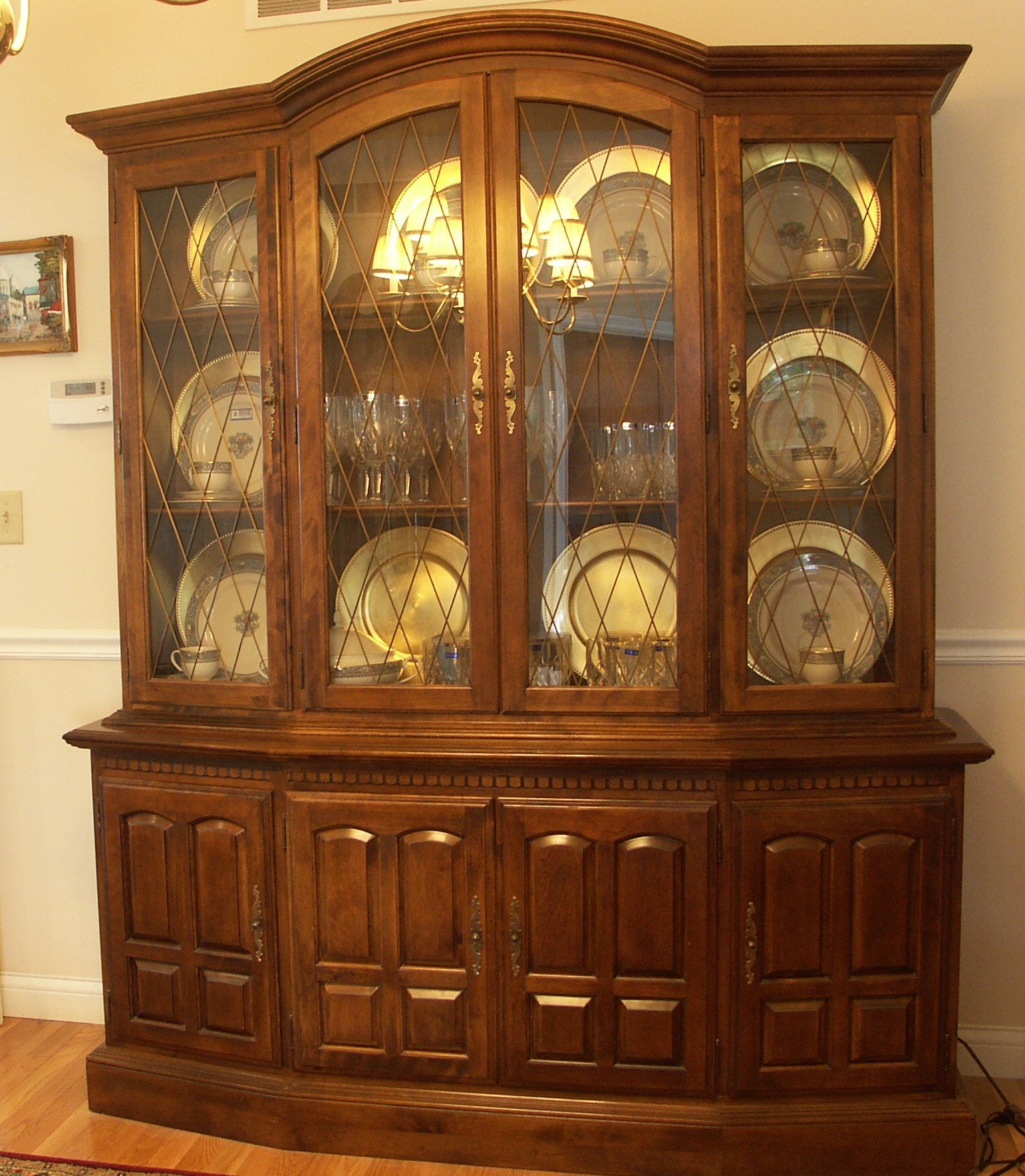 Ethan Allen Classic Manor China Cabinet ...