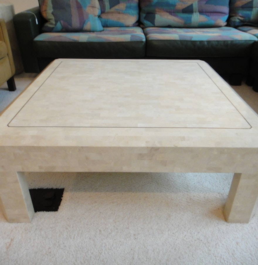 Awesome Maitland Smith Tessellated Marble Coffee Table Ebth