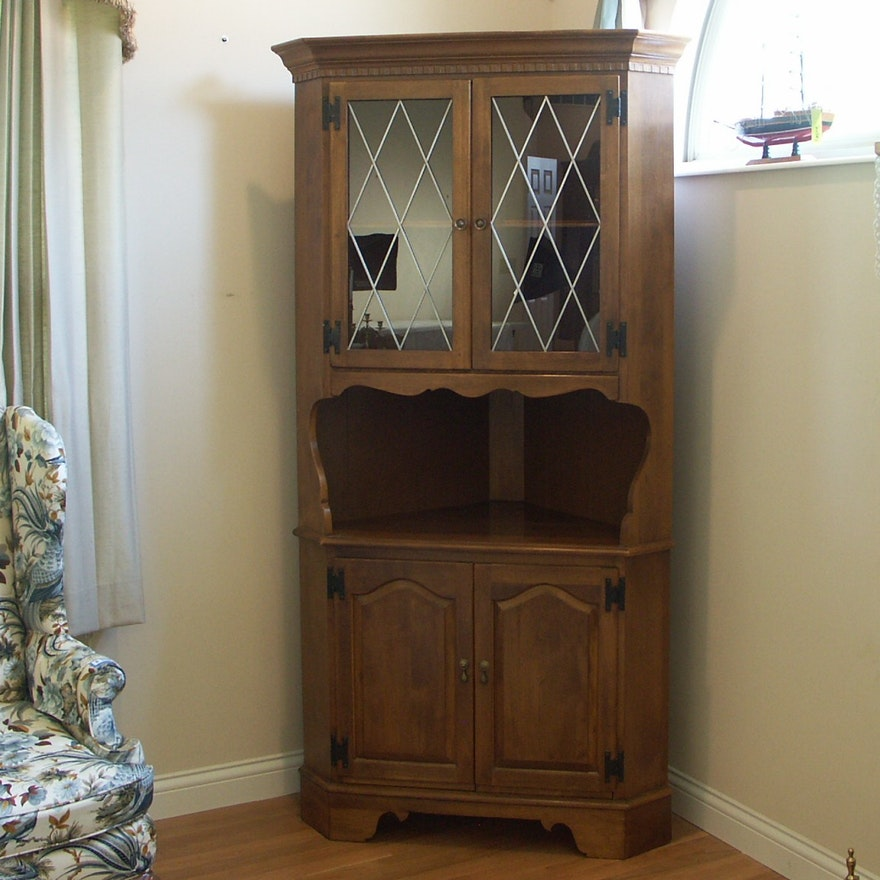 Ethan Allen Maple Corner Cabinet