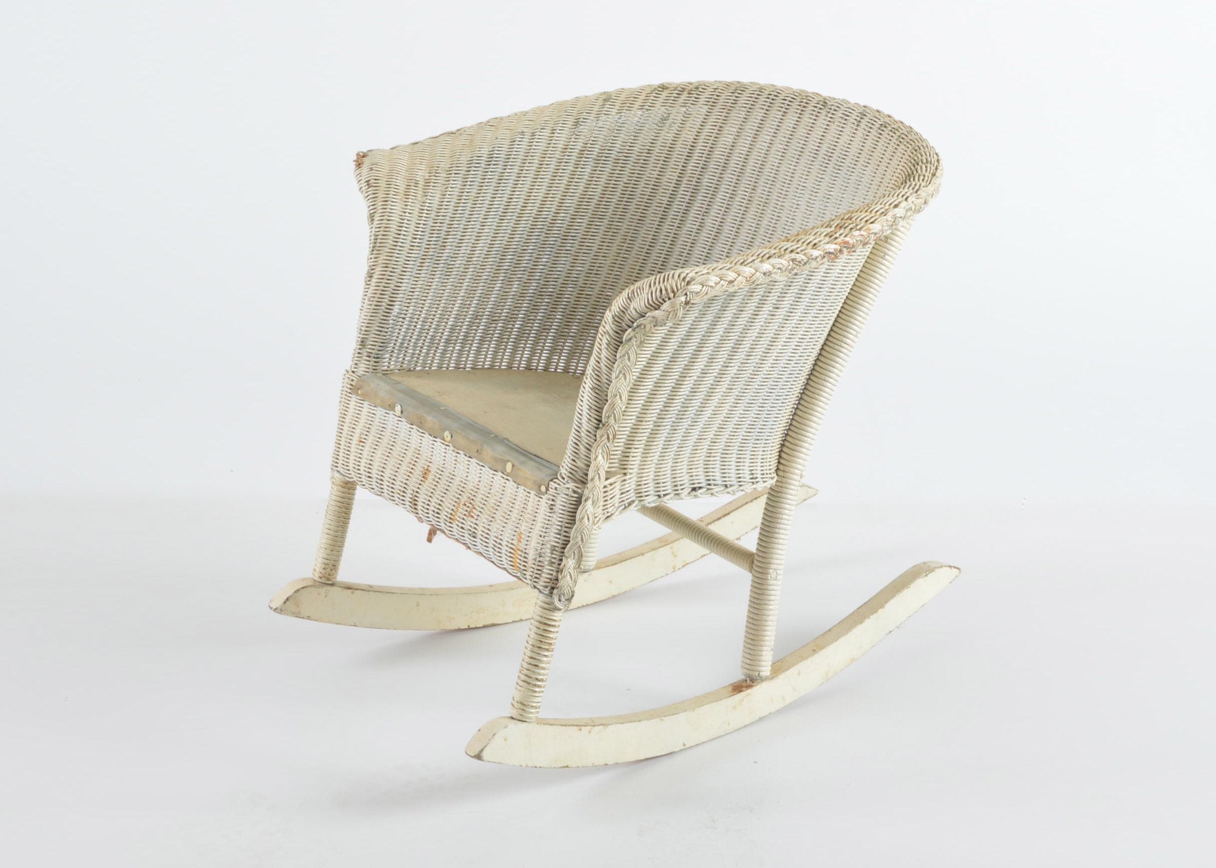vintage childu0027s wicker rocking chair