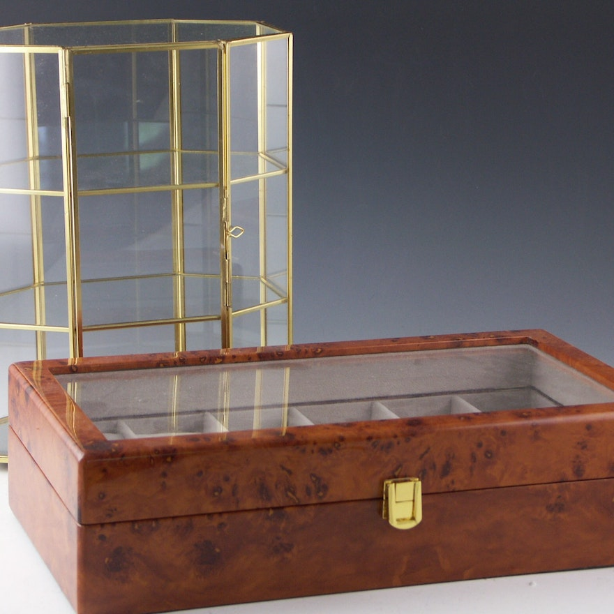 Two Small Decorative Display Cases Ebth