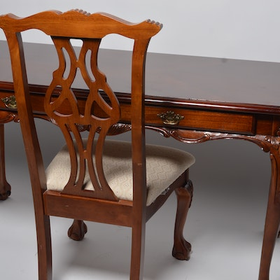 Hand-Carved Writing Desk and Chair - Vintage Chairs, Antique Chairs And Retro Chairs Auction In Columbus