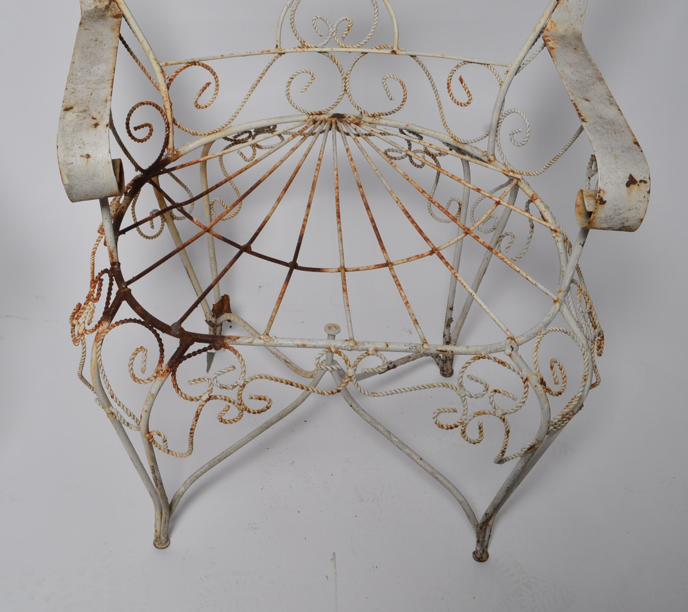 Victorian Twisted Wire Peacock Empress Garden Chairs Ebth