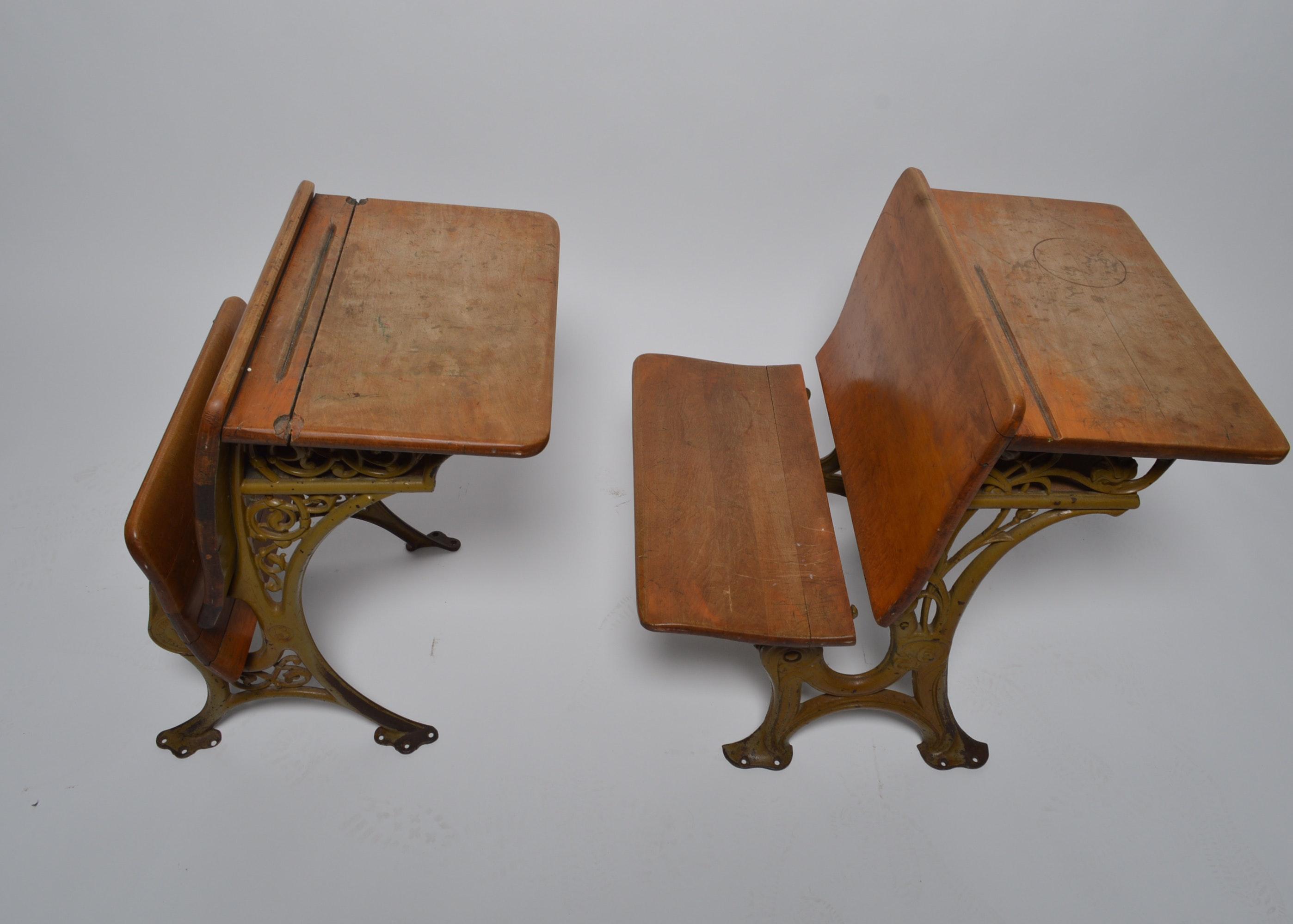 Vintage Buffalo Hardware Company School Desks : EBTH