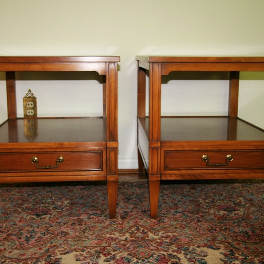 Vintage Hekman Furniture End Tables Ebth