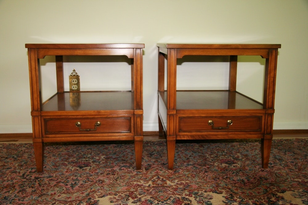 vintage hekman furniture end tables