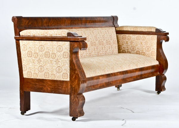 Vintage American Empire Parlor Sofa Ebth