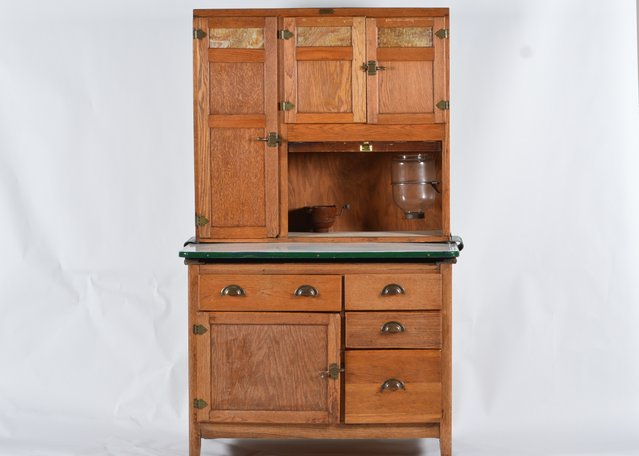 Hoosier Style Oak Wilson Kitchen Cabinet : EBTH