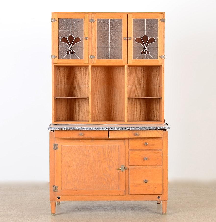 Wilson Kitchen Cabinet Hoosier Oak Kitchen Hutch