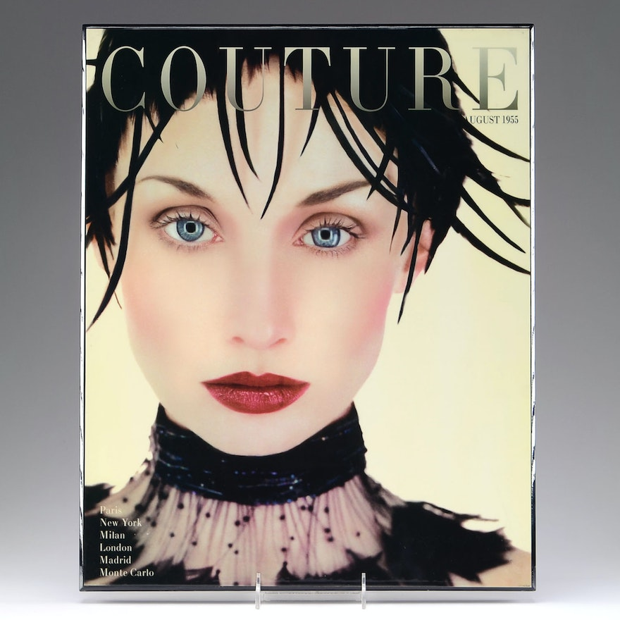 1955 Couture Magazine Cover Lacquered Wall Art : EBTH