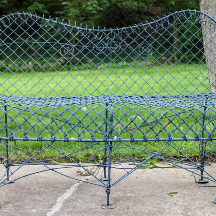 Awe Inspiring Vintage Wire Garden Bench Pabps2019 Chair Design Images Pabps2019Com