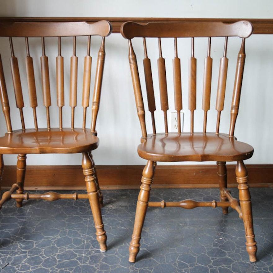 Temple Stuart Rockport Maple Chairs Ebth