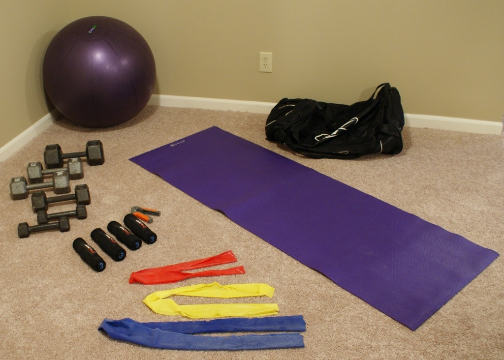Group Of Fitness Equipment