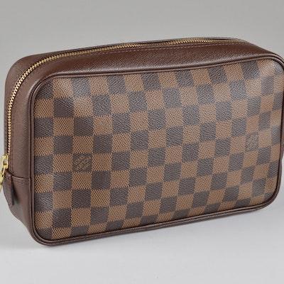7837d1b0cb67 Louis Vuitton Damier Ebene Canvas Toiletries Bag