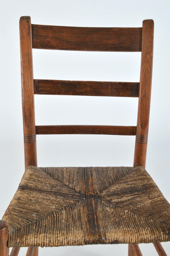 early american style ladder back chair ebth