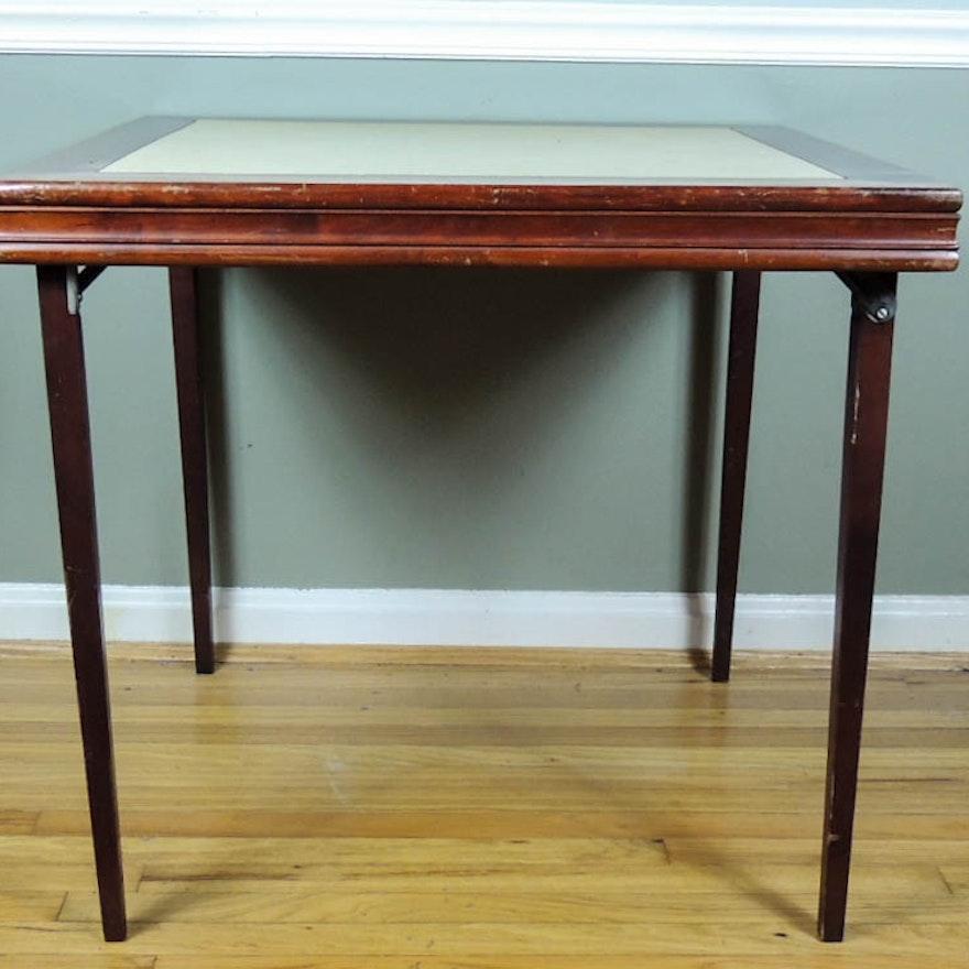 vintage ferguson folding card table ebth. Black Bedroom Furniture Sets. Home Design Ideas