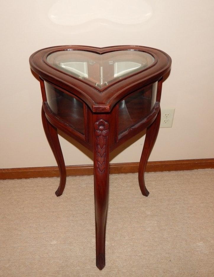 Mahogany Heart Shaped Table ...