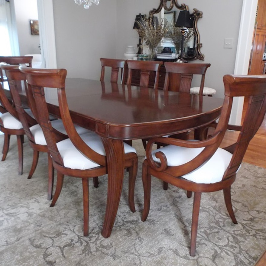 Shermag Claine Collection Dining Table And Chairs Ebth