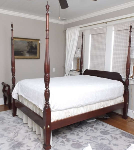 Ethan Allen Charleston Style Queen Size Four Poster Rice Bed Ebth