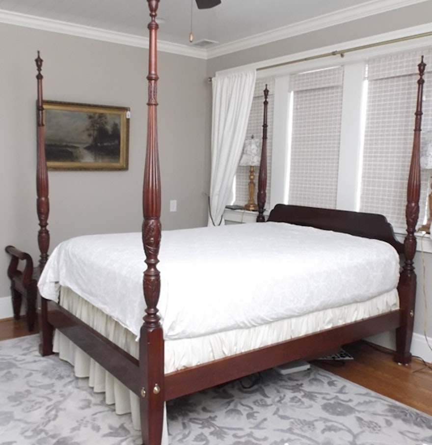 Ethan Allen Bedroom Sets Zen Type Bedroom Design Eiffel Tower Bedroom Decor Italian Bedroom Furniture Online: Ethan Allen Charleston Style Queen Size Four Poster Rice