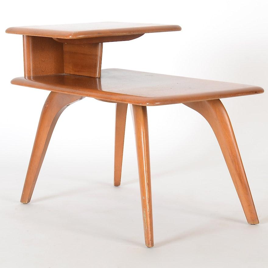 Heywood Wakefield Mid Century Coffee Table End Tables: 1940s Mid Century Modern Heywood Wakefield End Table : EBTH