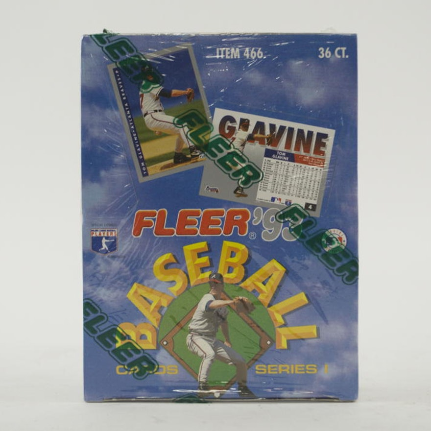 Factory Sealed Box Of 1993 Fleer Baseball Cards