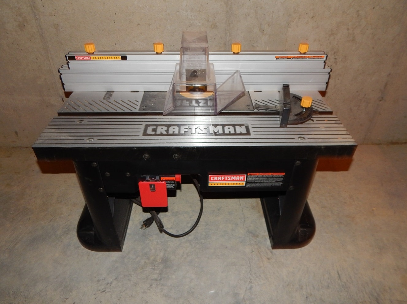 craftsman professional router table : ebth