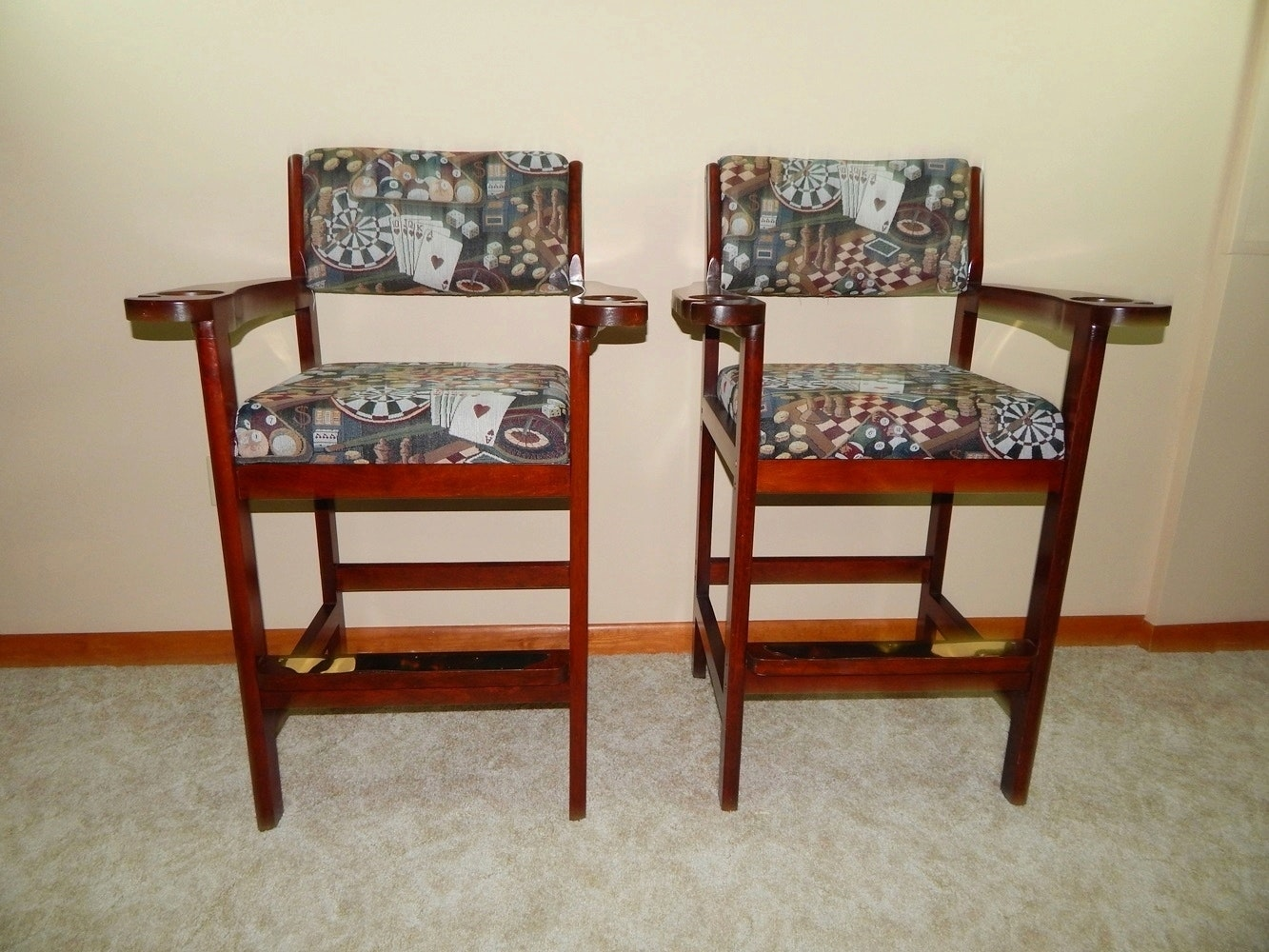 Pair Of Billiard Chairs ...