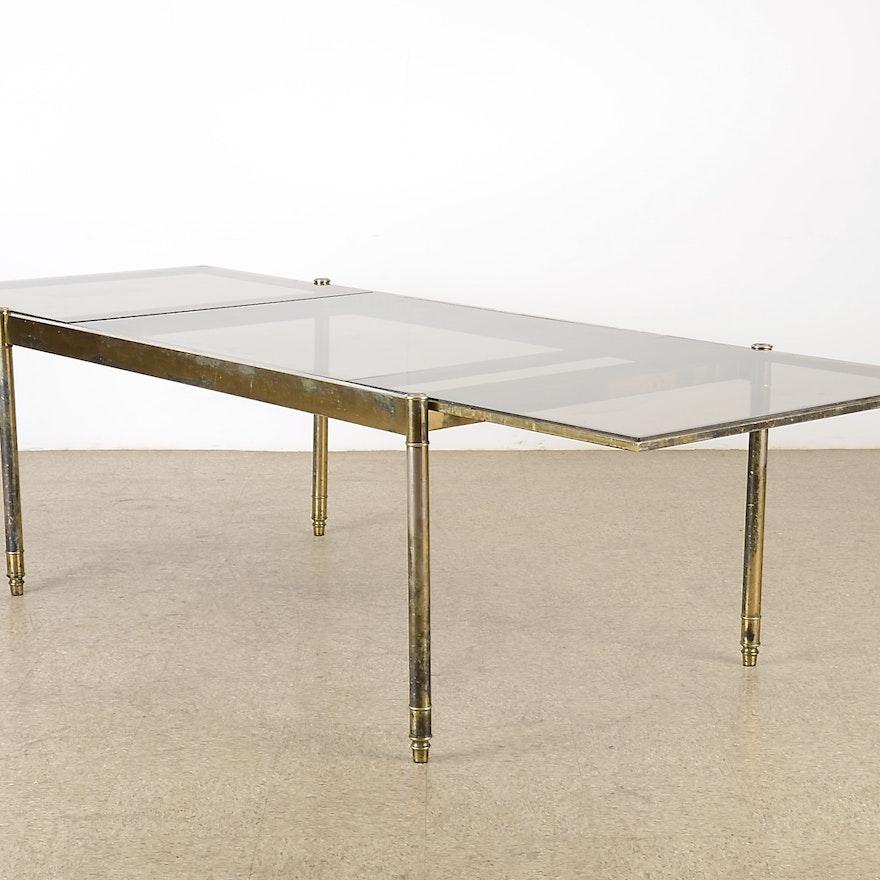 Mid Century Modern Glass Top Dining Table EBTH - Mid century modern glass top dining table