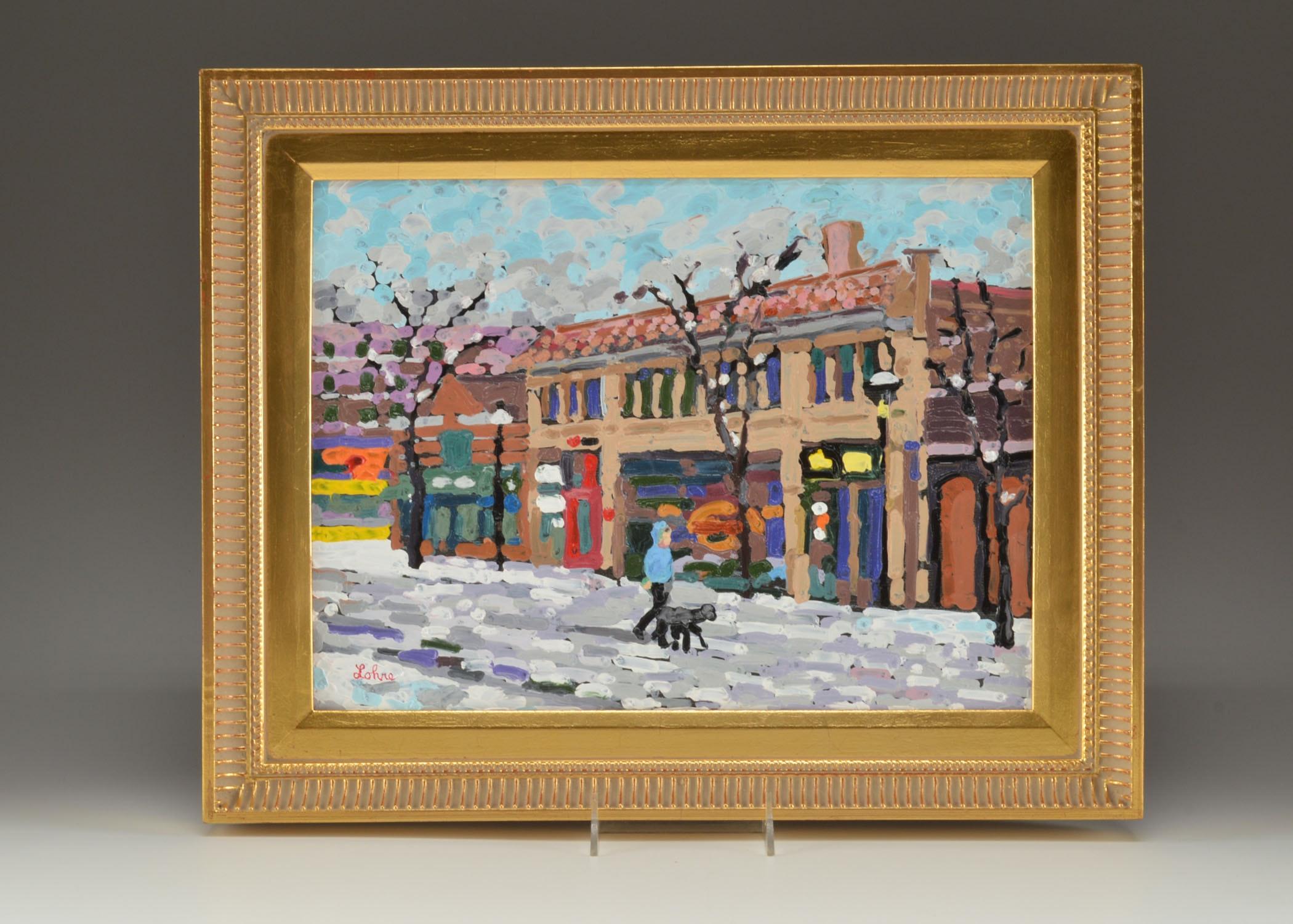Original Tom Lohre Oil Pastel on Metal Painting