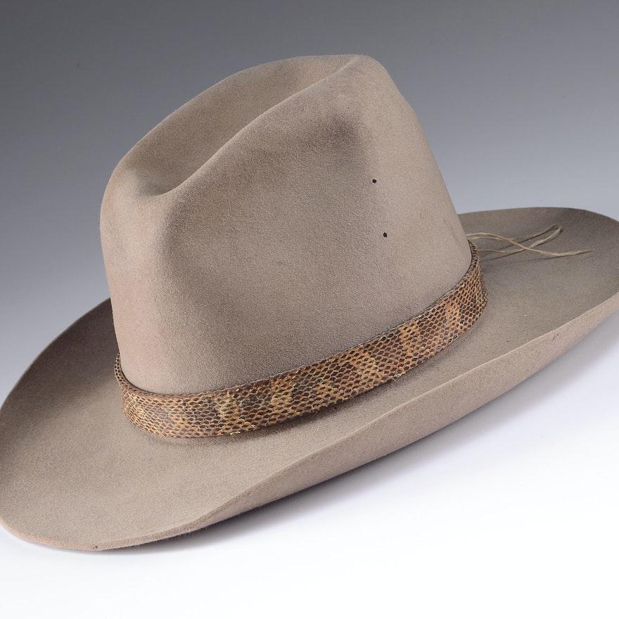 66e2dd28e83b4b 1950s Stetson 4X Beaver Cowboy Hat : EBTH