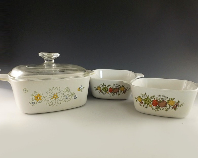 Corning Ware Baking Dishes Creme Brulee Set And More Ebth