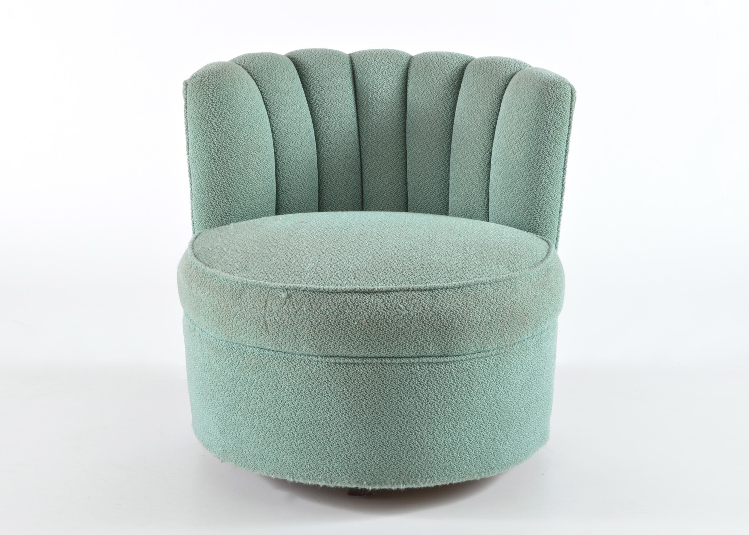 Clamshell Shaped Upholstered Chair ...