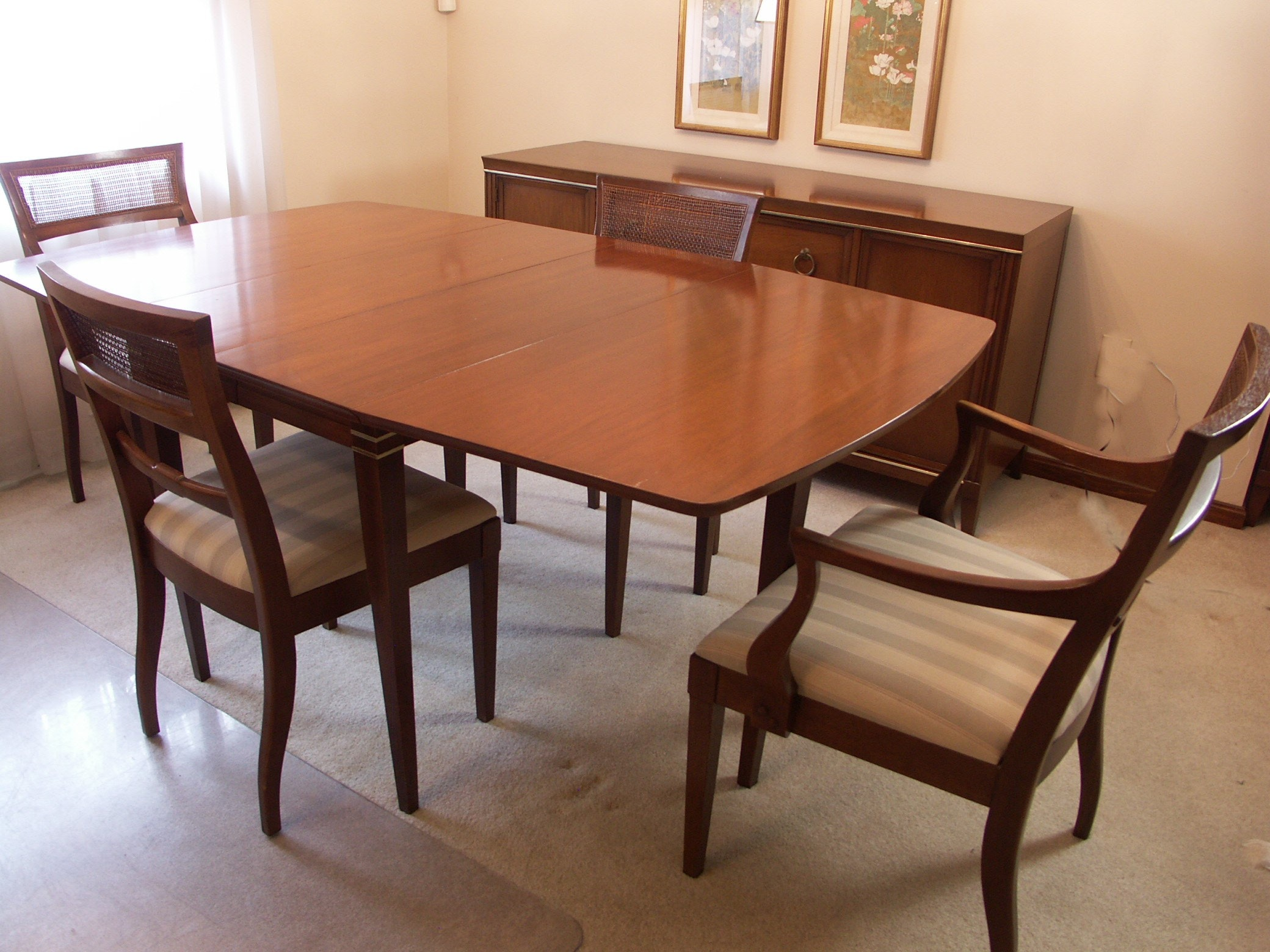 mid century u0027interlude u0027 drexel drop leaf dining table and chairs