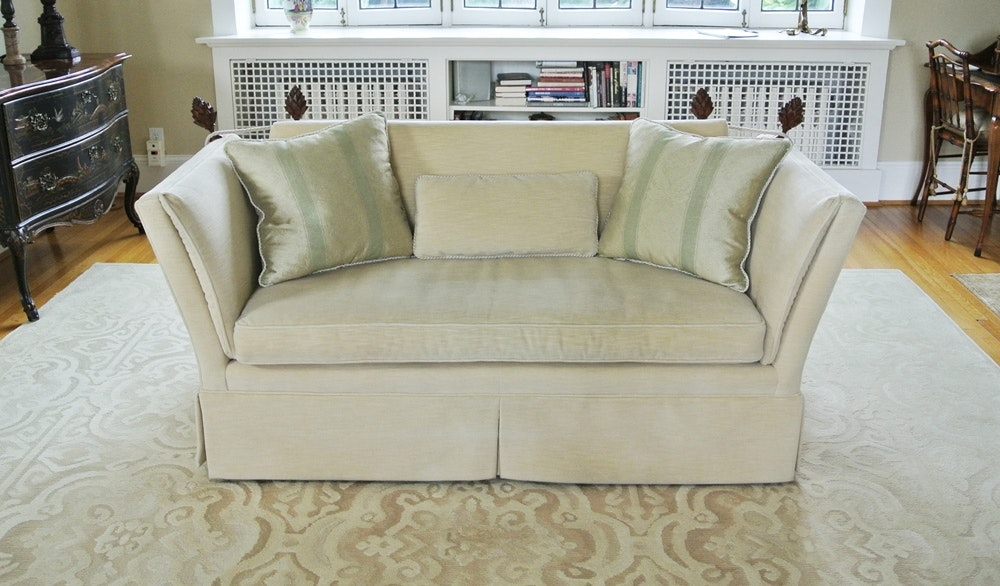 Knole Style Love Seat With Pine Cone Accents By Baker Furniture ...