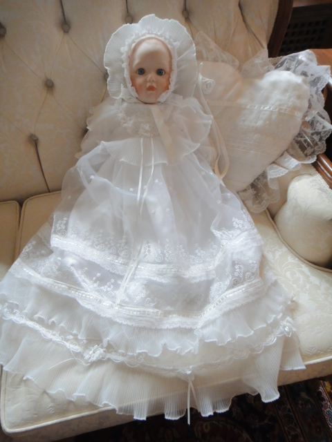 Danbury Mint Christening Day Porcelain Dolls By Brand, Company, Character