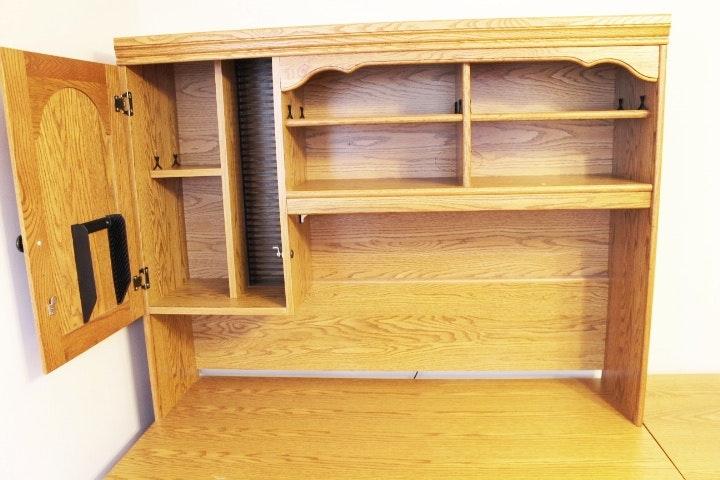 L Shaped Five Section Palliser Computer Desk With Hutch Ebth