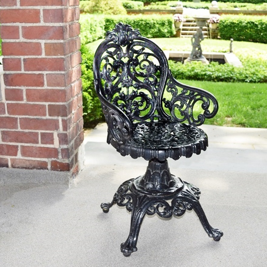 Terrific An Antique Cast Iron Swivel Chair Dating To 1870 Bralicious Painted Fabric Chair Ideas Braliciousco