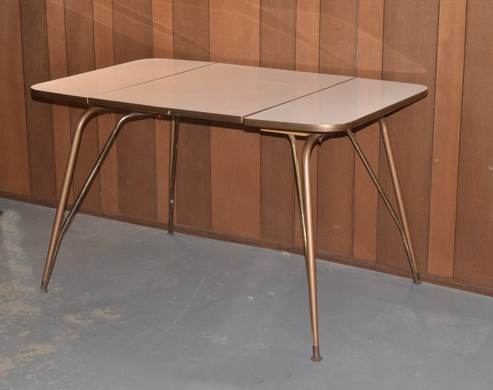 Mid Century Walter Of Wabash Drop Leaf Kitchen Table ...