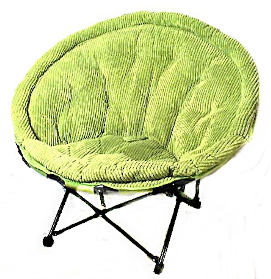 Chair In A Bag Foldable Corduroy Papasan Chair With Metal