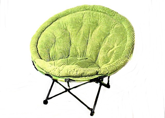 Chair In A Bag: Foldable Corduroy Papasan Chair With Metal Legs ...